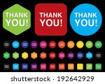 thank you button | Shutterstock . vector #192642929