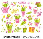 a set of simple bright spring...   Shutterstock .eps vector #1926430646
