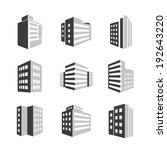 vector buildings icons 3d... | Shutterstock .eps vector #192643220