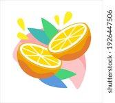 citrus orange fruit icon with... | Shutterstock .eps vector #1926447506