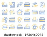 mattress line icons. breathable ... | Shutterstock .eps vector #1926460046