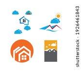 creative house set logo vector... | Shutterstock .eps vector #1926461843