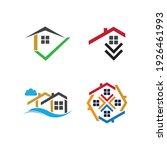 creative house set logo vector... | Shutterstock .eps vector #1926461993