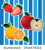 fresh fruits with blue... | Shutterstock .eps vector #1926474323