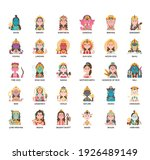 indian god   thin line and...   Shutterstock .eps vector #1926489149