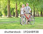 happy mature couple walking in... | Shutterstock . vector #192648938