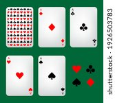 playing cards and symbols ... | Shutterstock .eps vector #1926503783