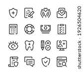 health insurance icons. vector... | Shutterstock .eps vector #1926504620