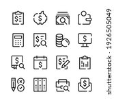 accounting icons. vector line... | Shutterstock .eps vector #1926505049