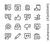 review icons. vector line icons....   Shutterstock .eps vector #1926505493
