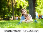 mother and daughter relaxing in ... | Shutterstock . vector #192651854