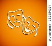 summer orange and white...   Shutterstock .eps vector #192654314