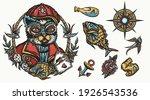 funny sailor cat. sea adventure ... | Shutterstock .eps vector #1926543536