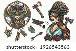 native american indian color... | Shutterstock .eps vector #1926543563