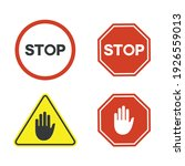 a collections of traffic sign ... | Shutterstock .eps vector #1926559013
