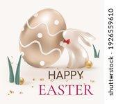 happy easter editable 3d... | Shutterstock .eps vector #1926559610