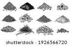 piles of spices. black pepper ... | Shutterstock .eps vector #1926566720