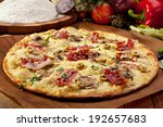 white pizza made from sour... | Shutterstock . vector #192657683