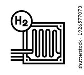fuel cells hydrogen line icon... | Shutterstock .eps vector #1926577073