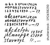 vector hand drawn alphabet | Shutterstock .eps vector #192658250