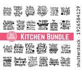 hand drawn kitchen quotes set ... | Shutterstock .eps vector #1926584129