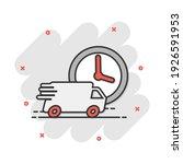 vector cartoon delivery truck...   Shutterstock .eps vector #1926591953