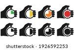stopwatch in hand  icon set... | Shutterstock .eps vector #1926592253