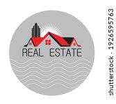 this logo real estate for... | Shutterstock .eps vector #1926595763
