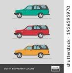 urban vehicle. suv in 3... | Shutterstock .eps vector #1926595970