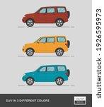 urban vehicle. suv in 3... | Shutterstock .eps vector #1926595973