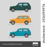 urban vehicle. suv in 3... | Shutterstock .eps vector #1926595976
