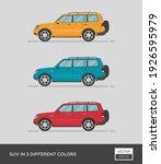 urban vehicle. suv in 3... | Shutterstock .eps vector #1926595979