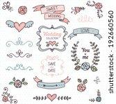 wedding graphic set  arrows ... | Shutterstock .eps vector #192660560