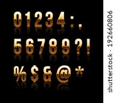 gold font set 2. file contains... | Shutterstock . vector #192660806