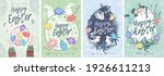 happy easter. a set of vector... | Shutterstock .eps vector #1926611213
