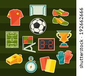 soccer  football  sticker icon... | Shutterstock .eps vector #192662666