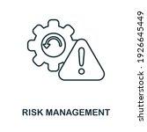 risk management icon.... | Shutterstock .eps vector #1926645449