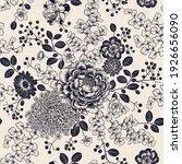 floral summer seamless pattern. ... | Shutterstock .eps vector #1926656090