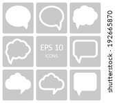 speech bubble icons. vector... | Shutterstock .eps vector #192665870