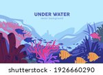 underwater world with coral... | Shutterstock .eps vector #1926660290