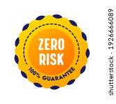 zero risk guarantee... | Shutterstock .eps vector #1926666089