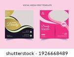 beauty spa salon makeup social... | Shutterstock .eps vector #1926668489