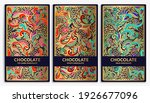 colorful set of chocolate bar... | Shutterstock .eps vector #1926677096