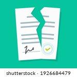 broken contract vector or... | Shutterstock .eps vector #1926684479
