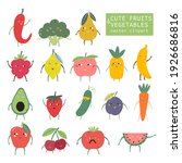 funny fruits and vegetables....   Shutterstock .eps vector #1926686816