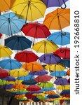 Colorful Umbrella Street Decoration Belgrade - Fine Art prints