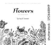 Summer Floral Vintage Vector...