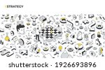 the concept of strategy and... | Shutterstock .eps vector #1926693896