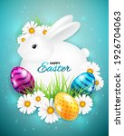 happy easter greeting card with ... | Shutterstock .eps vector #1926704063