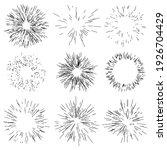 random radial lines comic... | Shutterstock .eps vector #1926704429